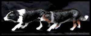 Breyer Companion Animals - Border Collies by The-Toy-Chest