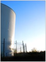 Blue Sky and the Water Tower by MikeMonaghanPhoto