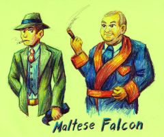 Maltese Falcon by strangefour