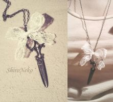 Scissors retro pendant by ShirNek0