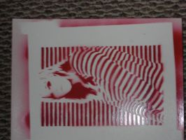 Striped Girl Red by Kerblotto