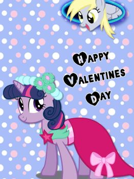 Happy Valentines day Brony card by ColdestAndOldest