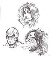 BiC Head Sketches by xashe