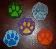 Element Wolf Pawpad Magnets by TikamiHasMoved