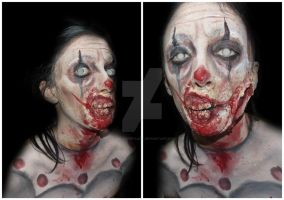 Zombie Clown Makeup by CamilaCostaArt