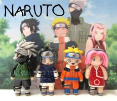 Chibi Charms: Naruto by Marielishere