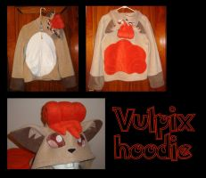 Vulpix Pokemon hoodie cosplay by Bahzi