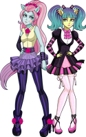 Equestria Girls Background Characters by sparks220stars