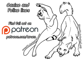 Patreon Linearts - Goofy Canines And Felines + DLC by ARVEN92