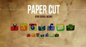 Paper Cut  Icon Social Media by franpulido