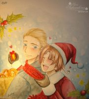Merry Xmas with Lud and Feli by Sara by Sara-Sakurahime