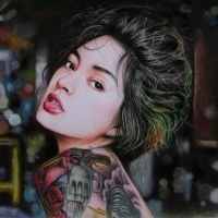 tattoo girl by Thanh-KaMi
