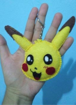 Pikachu Felt - Key Chain by AnBeSiTa