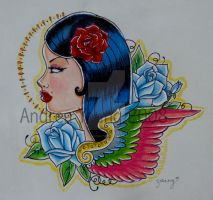 Tattoo Portrait by sexyillustrator