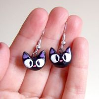 Jiji clay earrings, from kiki's delivery service by yael360