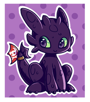 Toothless chibi by noodlemonstah