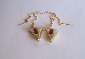 14k Goron Ruby Earrings ZELDA by TorresDesigns