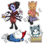 Stickers Undertale by Ixcuinan