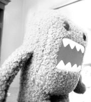 Domo-Kun Black and White by 5eraph