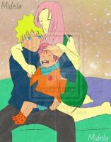NaruSaku and their son by mideila