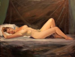 reclining nude 2 by humblestudent