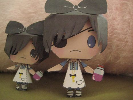 Ciel in Wonderland Papercraft by bunnycharms