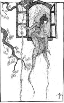 Luthien escaping by galadhorn