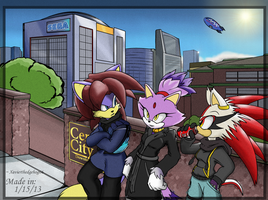 Chill'n In The City by XaviertheHedgehog66