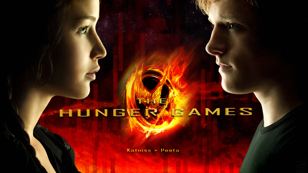 The Hunger Games, Katniss and Peeta by Grecian888