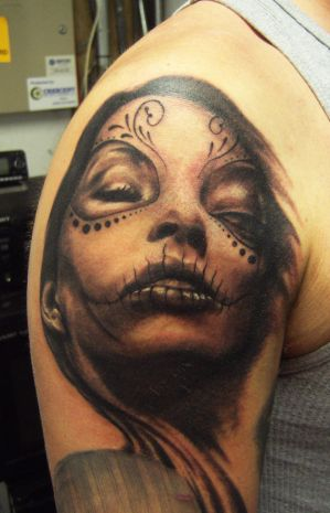 day of dead tattoos. mexican day of the dead