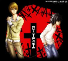 Death Note - Light and L by Nijuuni