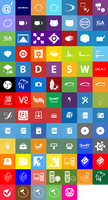 Metro Style Utility Icons by kuenzign