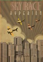 HYPERION poster - SKY RACE by benjaminography