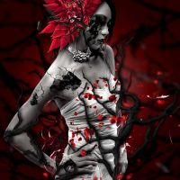 Red Photomanipulation by LonelyYuukiHime
