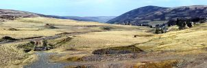 Panorama - Lowther Hills by printsILike