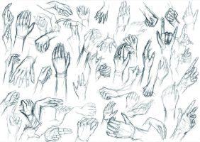 Sketches - hands by V3rc4