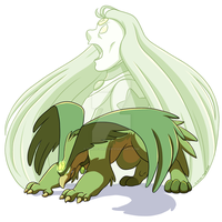 Gemsona: Gem Beast Prehnite by forte-girl7