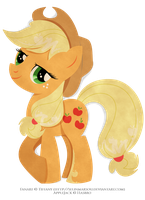 Paper Pony - Applejack by selinmarsou