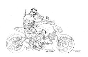 Blade on motorcycle test - jan10th2014 by SpiderGuile