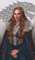 Commission: Cersei Stark by Enife