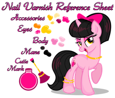 Nail Varnish Reference Sheet by equinepalette