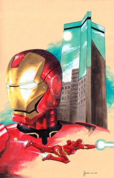 Iron Man Cover Sample by kentarcher