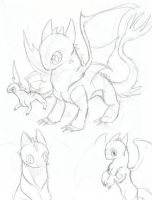 Toothless sketches 2 by Husky-Heart