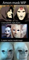 Amon Mask (Legend of Korra Cosplay) - WIP steps by kunibob