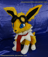 Shrike the Jolteon Plush by SleeplessTotodile