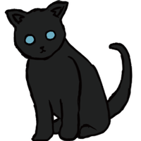 Dark Gray Kitty Cat by whatonearth