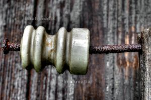 Porceline Thingy on a Rusty Nail by PAlisauskas