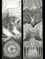 Golden Compass + LOTR bookmarks by Cri-Kee