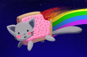 Nyan Cat by Dishface