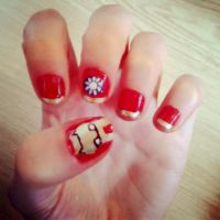 Iron Man Nail Art o: by xMandakax